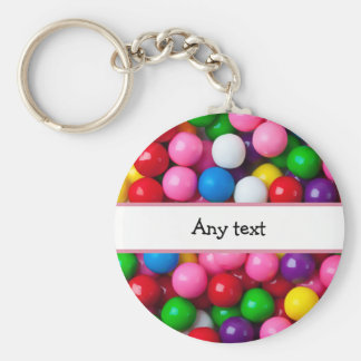 Colorful Gumball Graphic Keychain