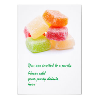 Colorful gummy square sweets card