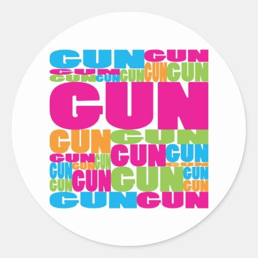 Colorful Gun Stickers