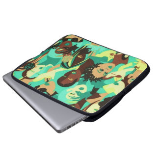 Colorful Hair Design Afrocentric Laptop Sleeve