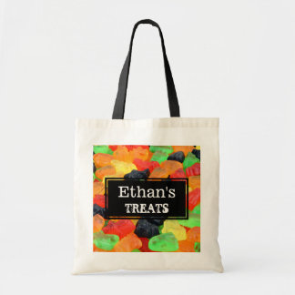 Colorful Halloween Ghosts and Bat Gummy Bag