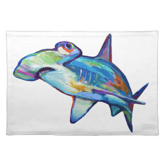 Colorful Hammerhead Shark by Robert Phelps Placemat