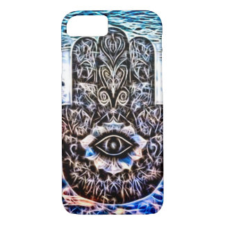 Colorful Hamsa Eye Fractal Art iPhone 8/7 Case