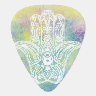 Colorful Hamsa Symbol Standard Guitar Pick