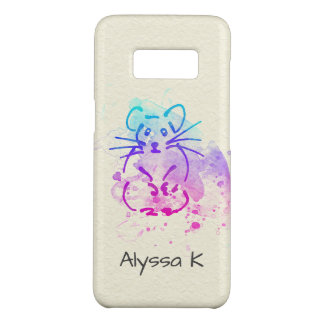 Colorful Hamster Art on Paper Texture: Personalize Case-Mate Samsung Galaxy S8 Case