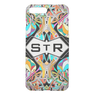 Colorful Hand Drawn Abstract I Monogram Initials iPhone 8 Plus/7 Plus Case