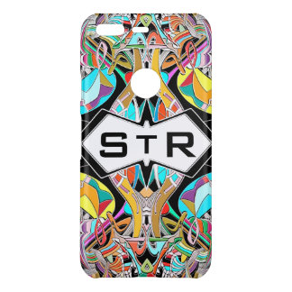 Colorful Hand Drawn Abstract I Monogram Initials Uncommon Google Pixel Case