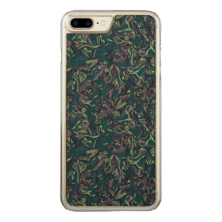 Colorful hand drawn abstract pattern design carved iPhone 8 plus/7 plus case