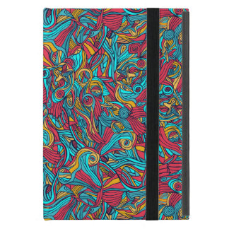 Colorful hand drawn abstract pattern design cases for iPad mini