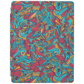 Colorful hand drawn abstract pattern design iPad cover