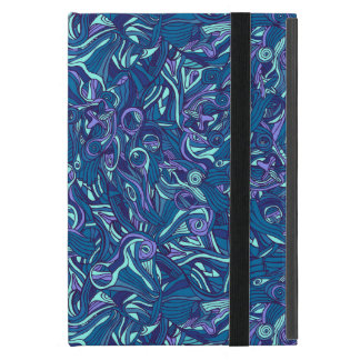 Colorful hand drawn abstract pattern design iPad mini cover