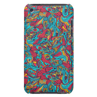Colorful hand drawn abstract pattern design iPod touch cover