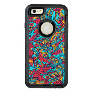 Colorful hand drawn abstract pattern design OtterBox iPhone 6/6s plus case