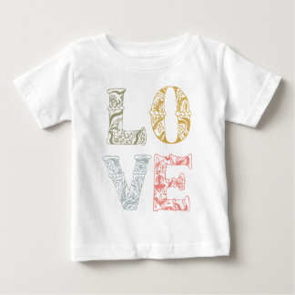 Colorful Hand-drawn Floral Love | Shirt
