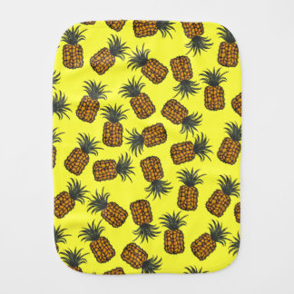 colorful hand painted tropical pineapple pattern burp cloth