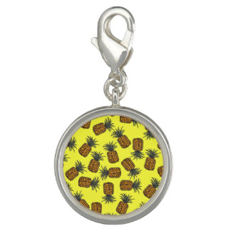 colorful hand painted tropical pineapple pattern charm