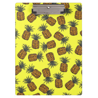 colorful hand painted tropical pineapple pattern clipboard