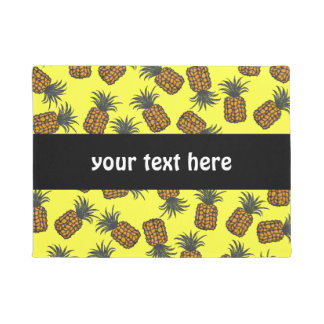 colorful hand painted tropical pineapple pattern doormat