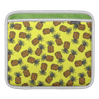 colorful hand painted tropical pineapple pattern iPad sleeve