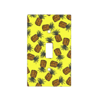colorful hand painted tropical pineapple pattern light switch cover