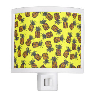 colorful hand painted tropical pineapple pattern night lights