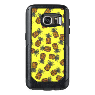 colorful hand painted tropical pineapple pattern OtterBox samsung galaxy s7 case