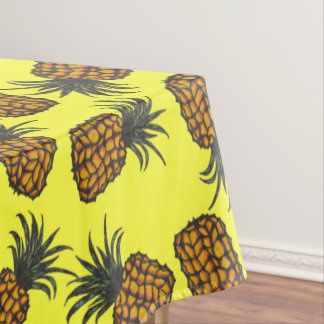 colorful hand painted tropical pineapple pattern tablecloth