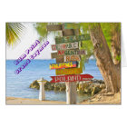 COLORFUL HANDMADE SIGNS AT RUM POINT GRAND CAYMAN CARD