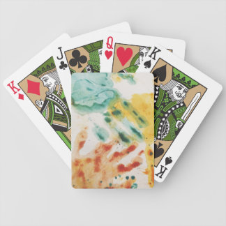 Colorful Handprints Kids Art Playing Cards