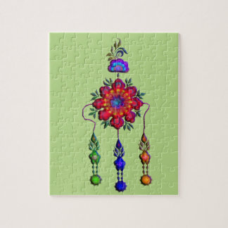 colorful hanging flowers jigsaw puzzle