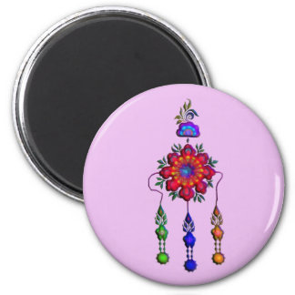 colorful hanging flowers magnet