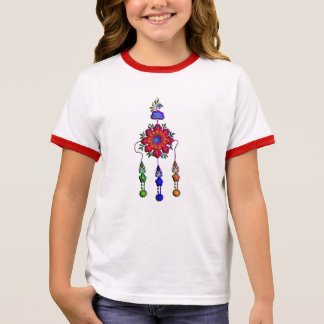 colorful hanging flowers ringer T-Shirt