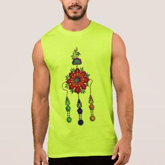 colorful hanging flowers sleeveless shirt