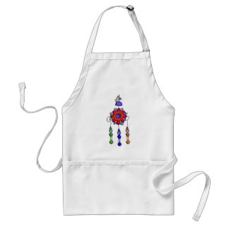 colorful hanging flowers standard apron