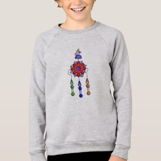 colorful hanging flowers sweatshirt