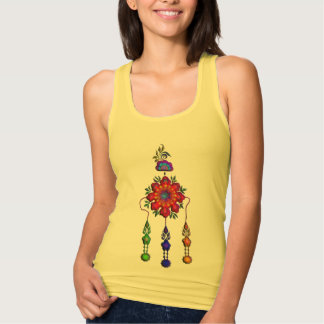 colorful hanging flowers tank top
