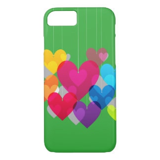 Colorful Hanging Hearts iPhone 8/7 Case