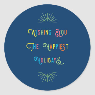 Colorful Happiest Holidays Sticker