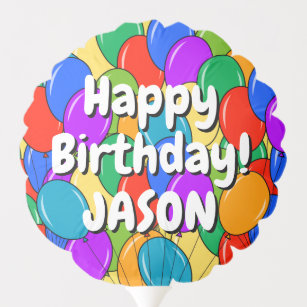 Colorful Happy Birthday Balloons For Him Or Her
