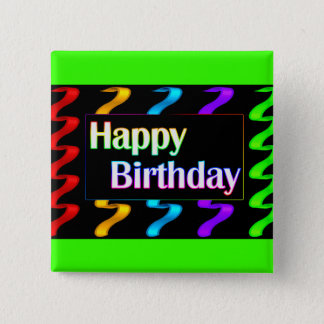 Colorful Happy Birthday Button