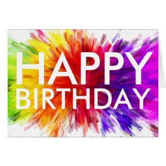Colorful Happy Birthday Card