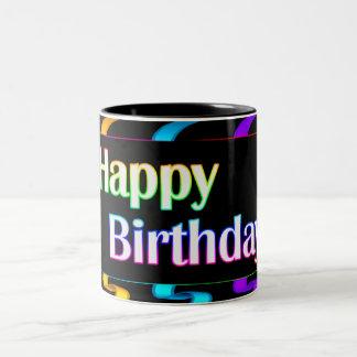 Colorful Happy Birthday Mug