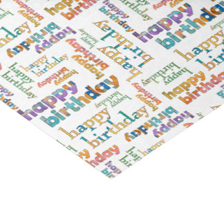 Colorful Happy Birthday Tissue Paper
