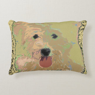 Colorful Happy Coton Dog Pillow
