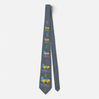 Colorful Happy Easter Chicks Greeting Text Tie