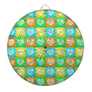 Colorful Happy Easter Pattern Dartboard