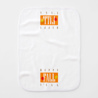 Colorful Happy Fall Y'All Autumn Leaves Baby Burp Cloth
