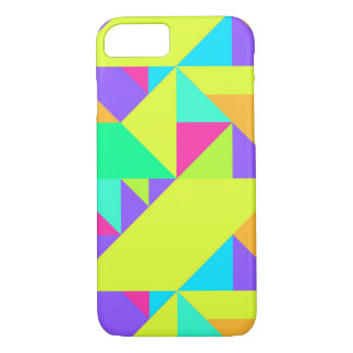 Colorful Happy Geometric Pattern iPhone 7 Case