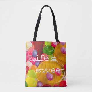 Colorful hard candy photo|| Life's sweet Tote Bag