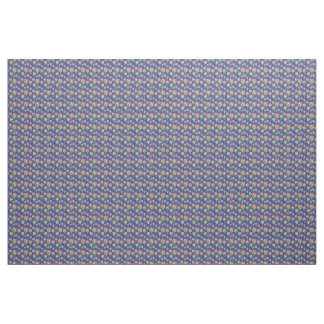 Colorful Harlequin Hot Air Balloons Blue Pattern Fabric